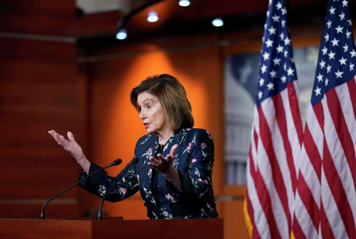 House Speaker Nancy Pelosi explaining her rejection of Republican committee members Thursday in Washington.