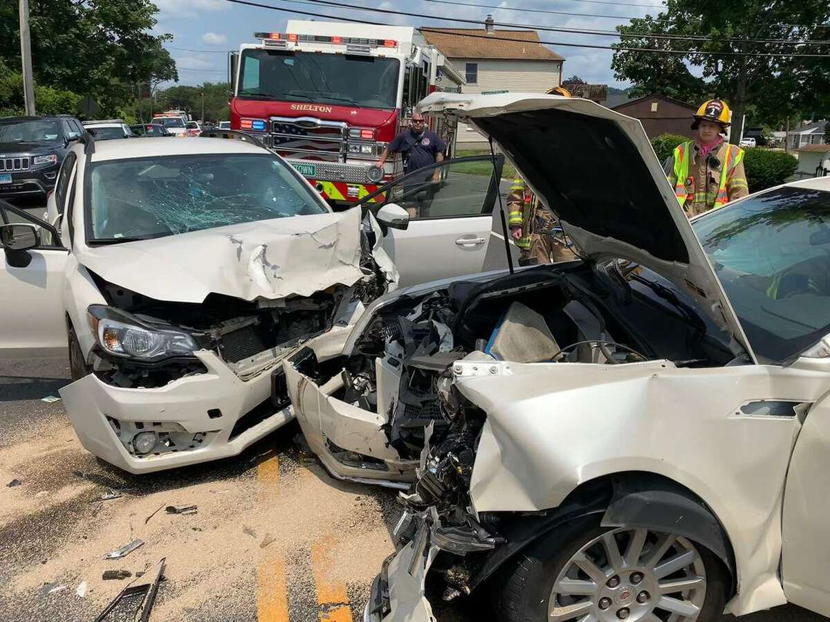 Fire officials were sent to River Road near Hawthorne Avenue around 12:17 p.m. to respond to a head-on crash, according to a post from the Shelton Fire Department.