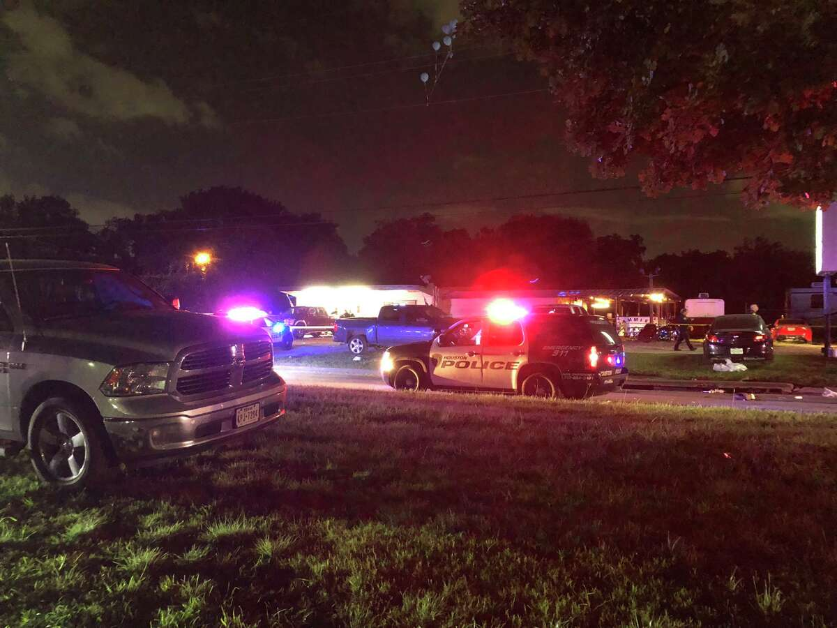 Two people were hospitalized Thursday following a shooting at a bar in northwest Houston, police say.