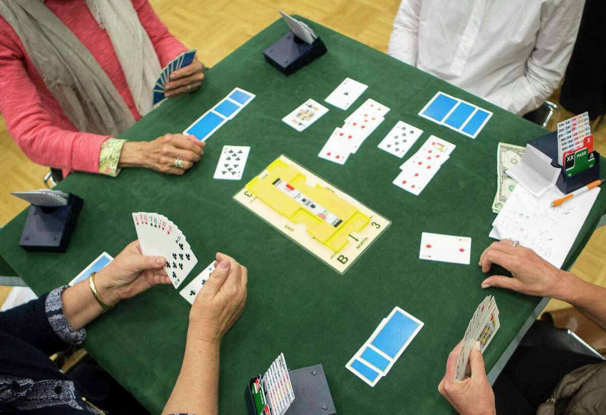 A weekly bridge game at the Greenwich YWCA on Friday, October 27, 2017.