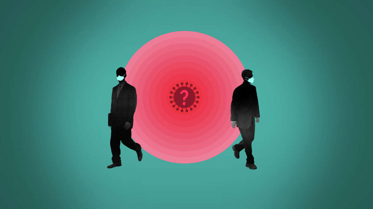 Should vaccinated people mask up with COVID-19 cases rising? (AP Illustration/Peter Hamlin)