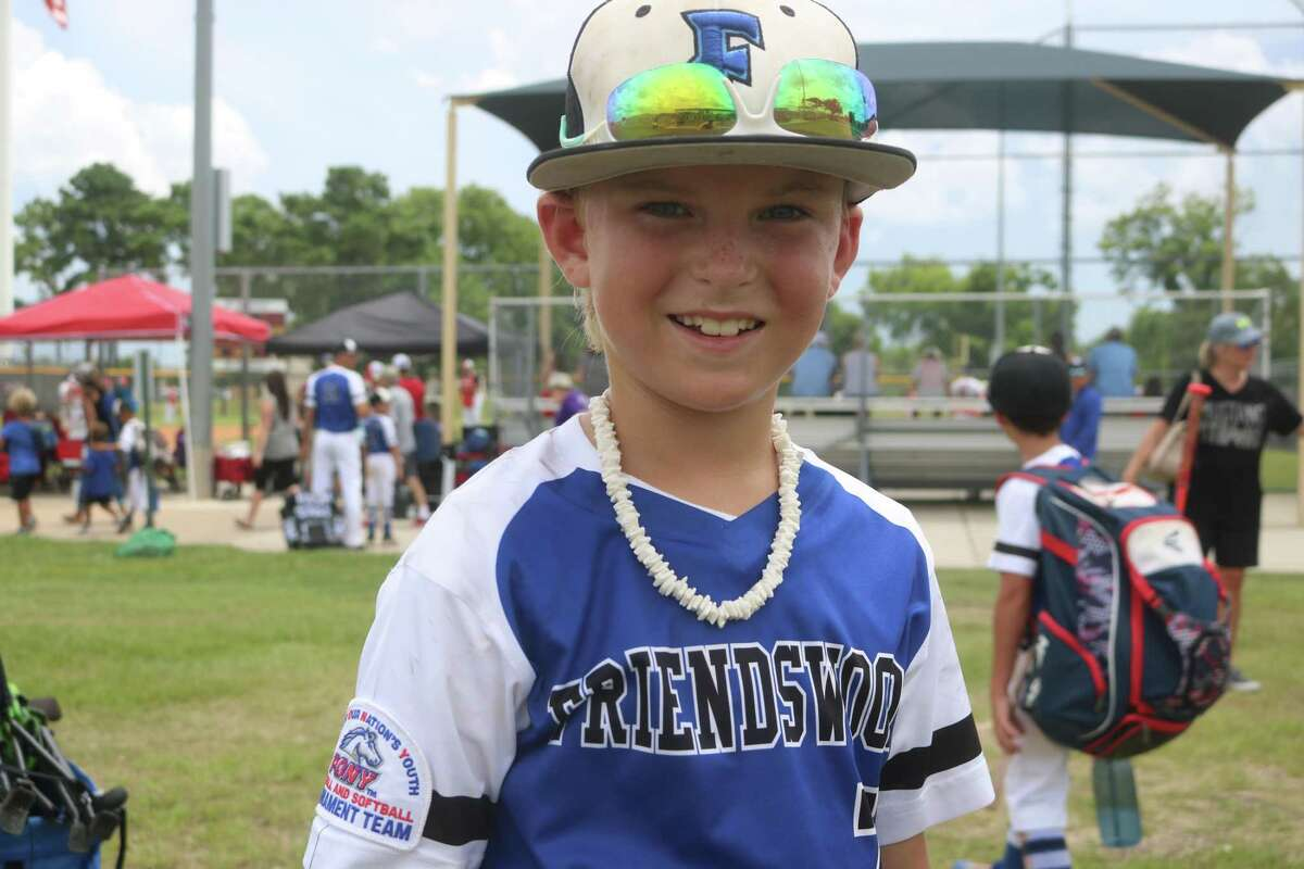 Friendswood's Jaxson Drew forced the PYBSA all-stars to strand the tying and winning runs in scoring position when Jaxson ended the game with back-to-back strikeouts.