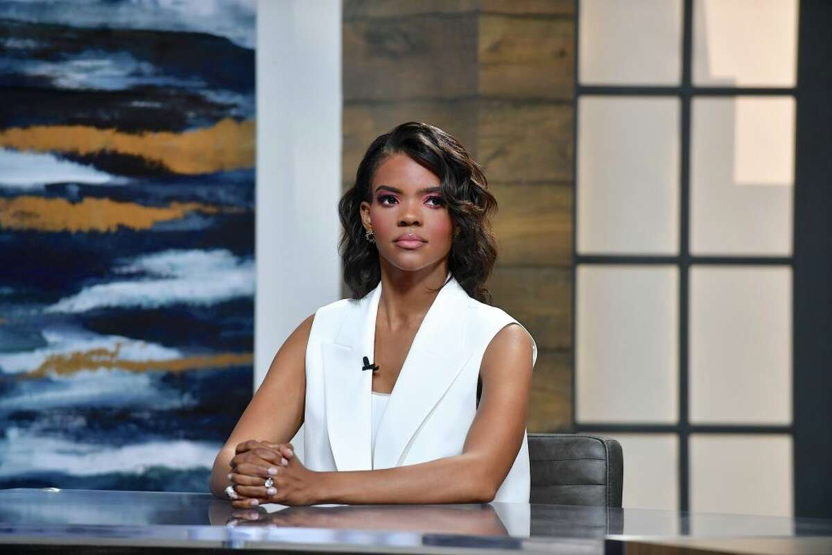 """Candace Owens is seen on set of """"Candace"""" on June 25, 2021 in Nashville, Tennessee."""