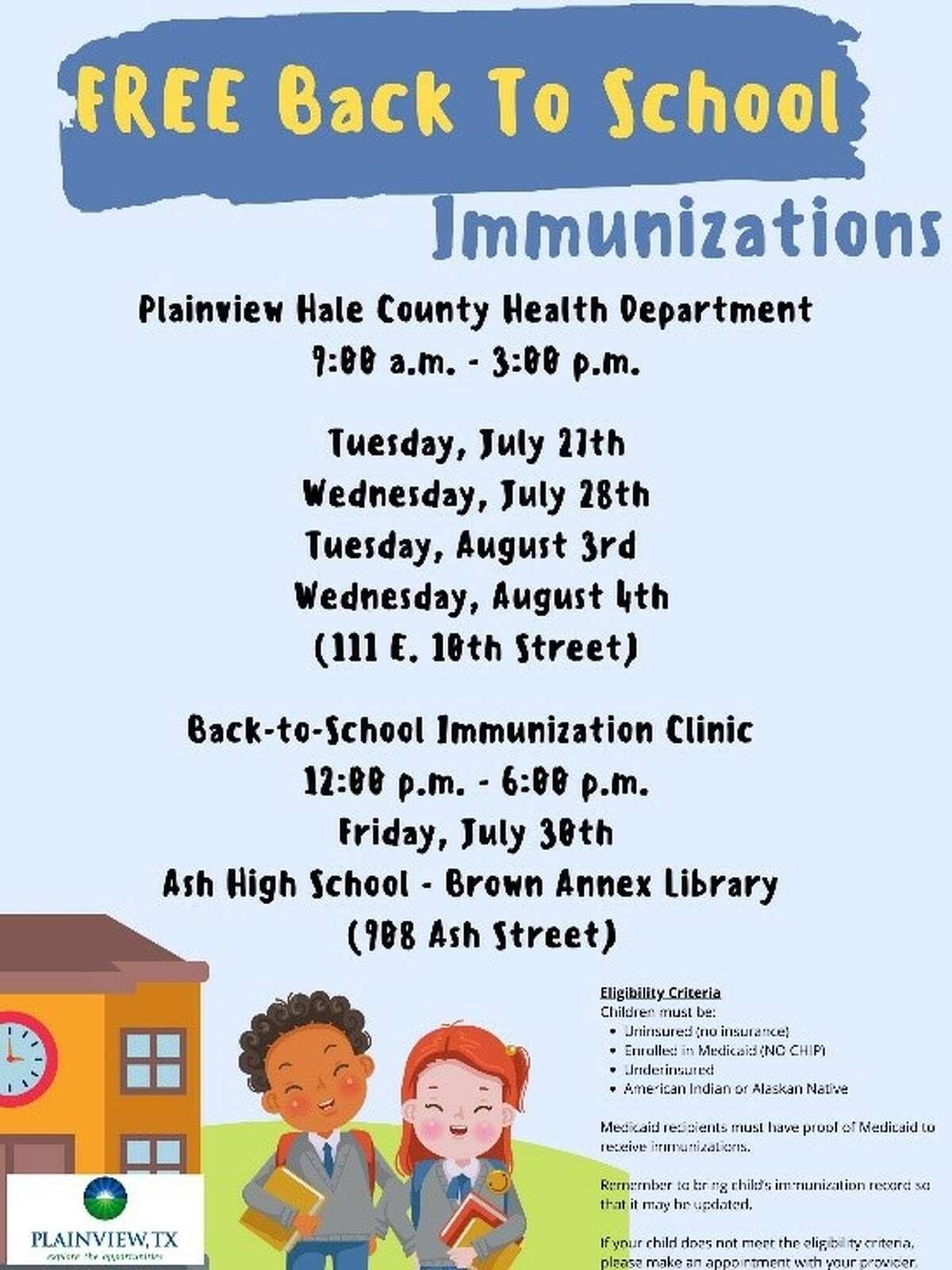 Immunization Clinic poster