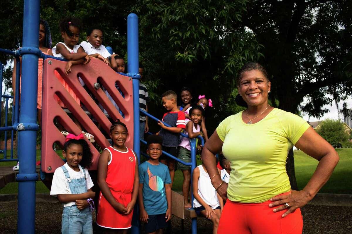 Friends of Riverside Park Houston director Sharon Evans Brooks at the Riverside Park, Monday, July 19, 2021, in Houston.