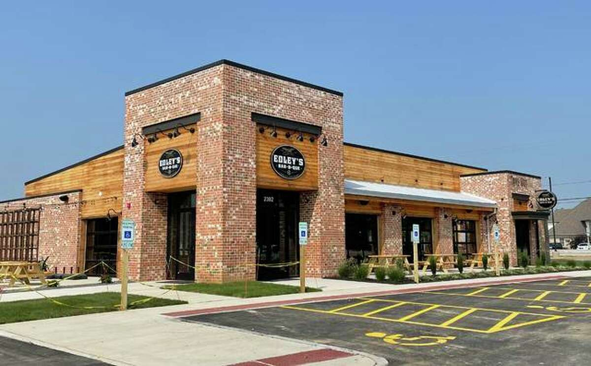 Edley's BBQ, located at 2392 S. State Rt. 157, across the street from Edison's Entertainment Complex. It opens Monday.