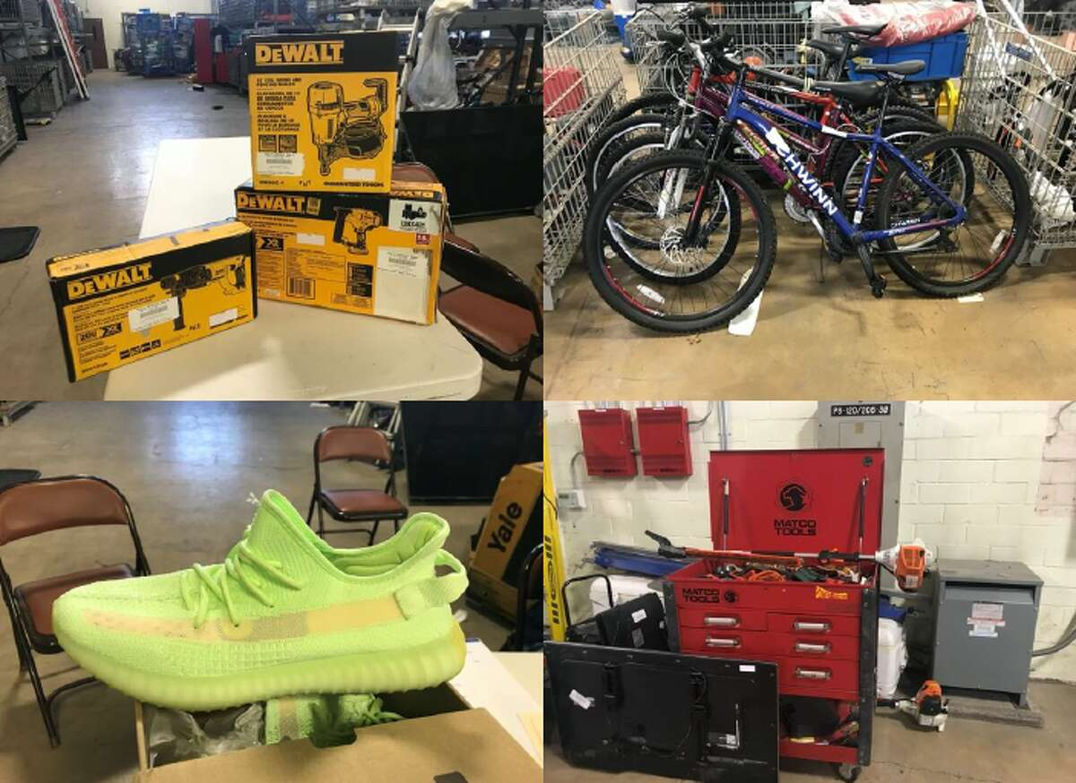 Yeezey's sneakers, tools, bikes and designer handbags were some of the things sold at the SAPD asset seizure auction.
