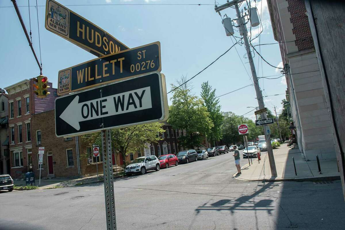 Intersection of Willett Street and Hudson Avenue on the edge of Washington Park on Friday July 23, 2021 in Albany, N.Y. A 34-year-old city man is in critical condition after he was shot in the head early Friday in this area. (Lori Van Buren/Times Union)