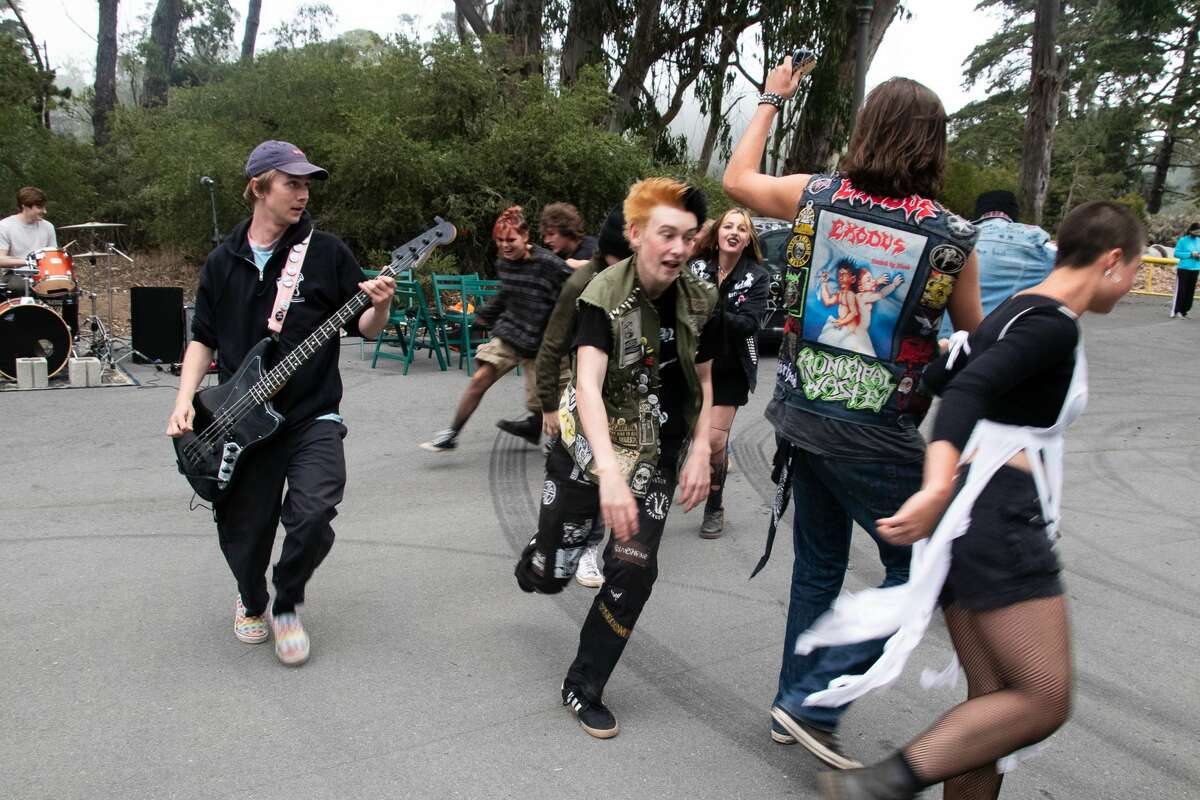 Jake Kaspari from Addalemon from Sacramento and Moshers in Golden Gate Park in San Francisco on July 18, 2021.