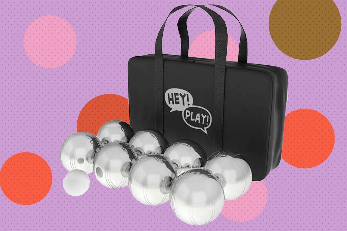 Hey! Play! Petanque Ball Set - Polished Steel