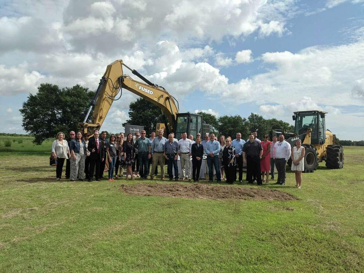 Community leaders celebrate the groundbreaking of Houston's newest active adult community, Del Webb Fulshear.