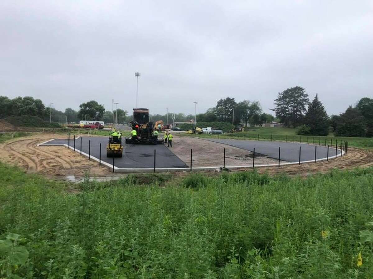 Crews began paving the new miracle field earlier this month. (Photo by City of Midland/Facebook)