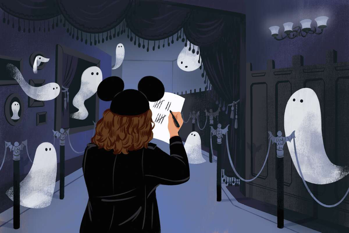 """Counting all the alleged """"999 happy haunts"""" in the Haunted Mansion."""