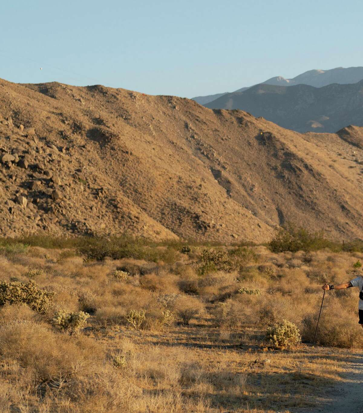 Ultrarunner Timothy Olson alone on the Pacific Crest Trail.