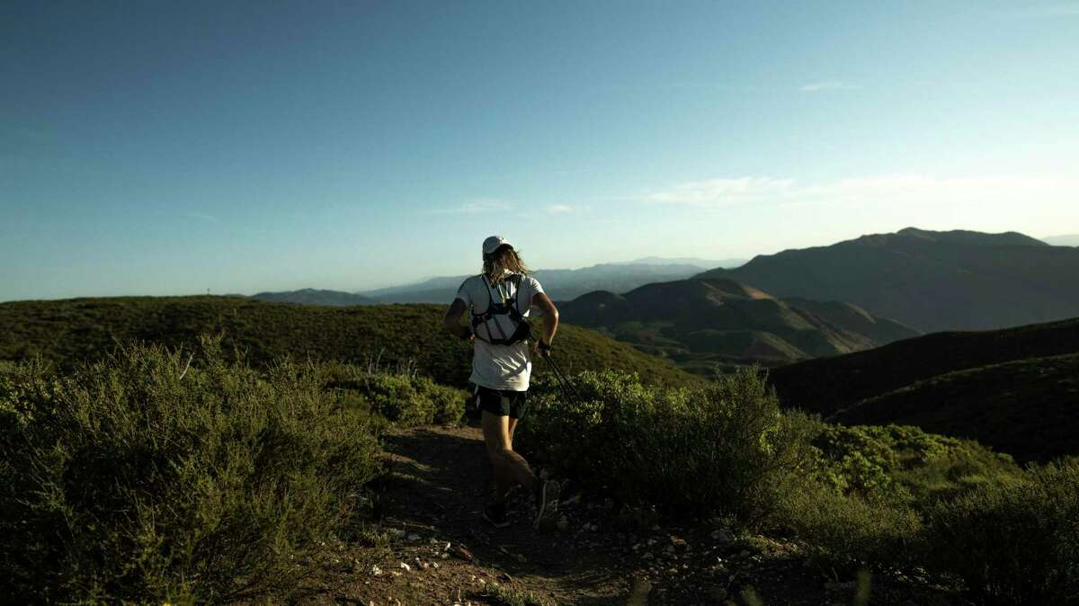 Ultrarunner Timothy Olson on the Pacific Crest Trail.