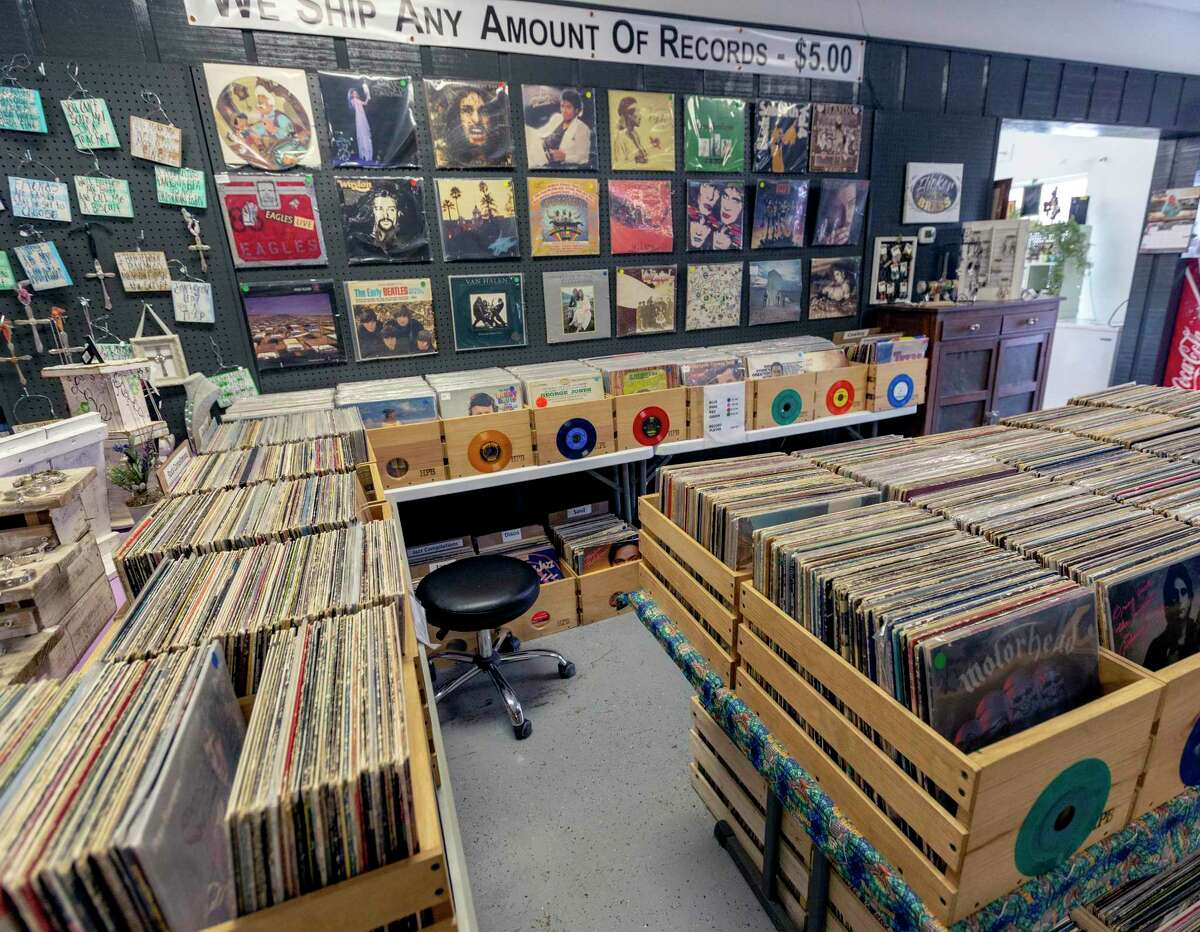 Steve Anderson's Stevie Ray Vinyl store inside The Shops of Bandera. The roughly 5,000 records at the Bandera location are just a small portion of Anderson's more than 113,000 record collection.