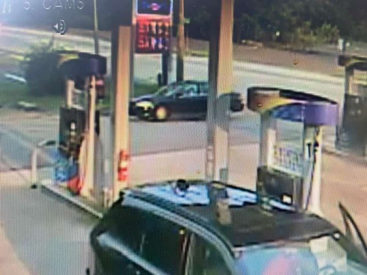 State police are looking for information on the car in the top section of the photo in connection with an incident in Essex, Conn.