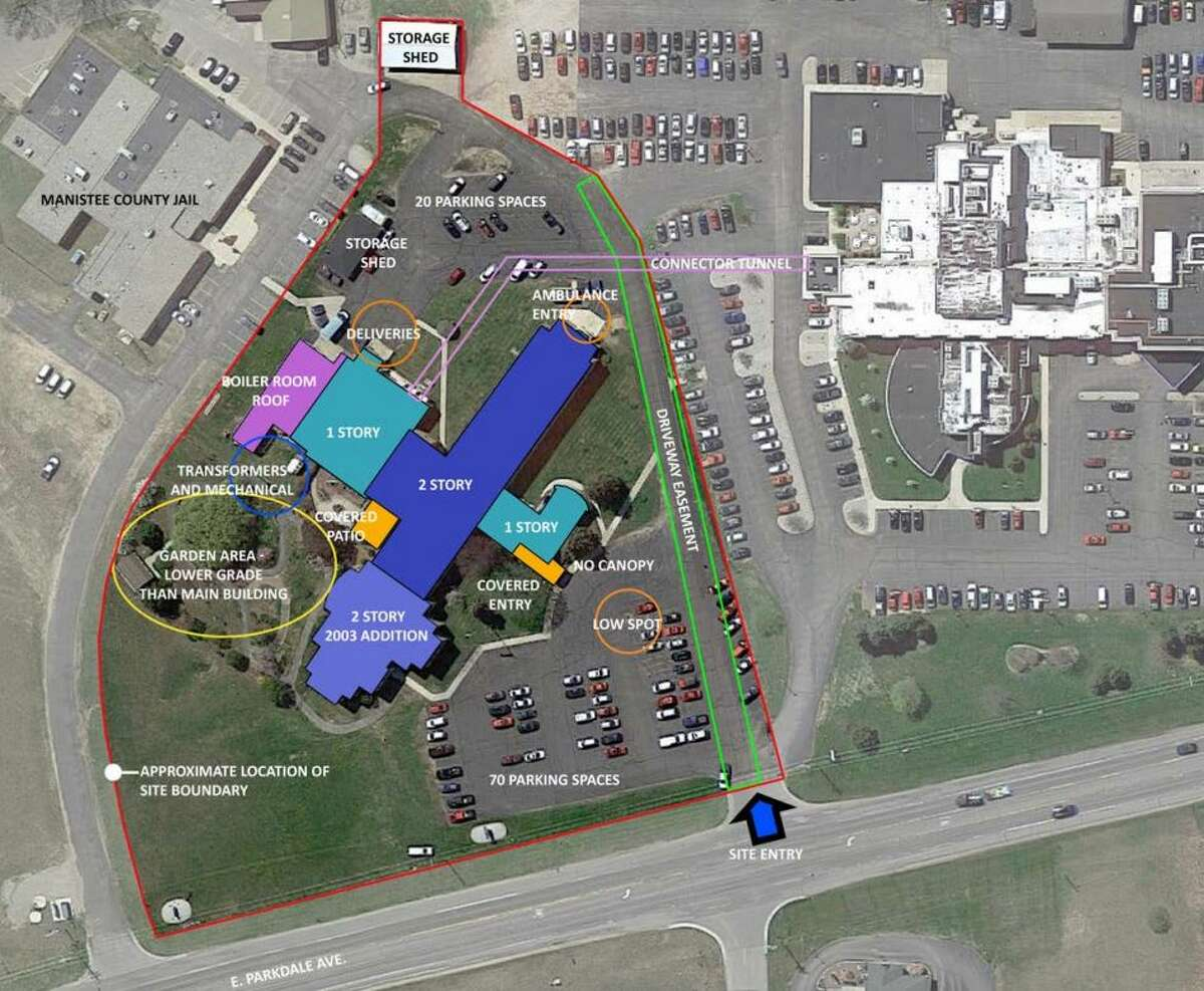 This image shows the current layout of the Manistee County Medical Care Facility. Voters will be asked to consider a bond request for renovation and expansions to the facility.