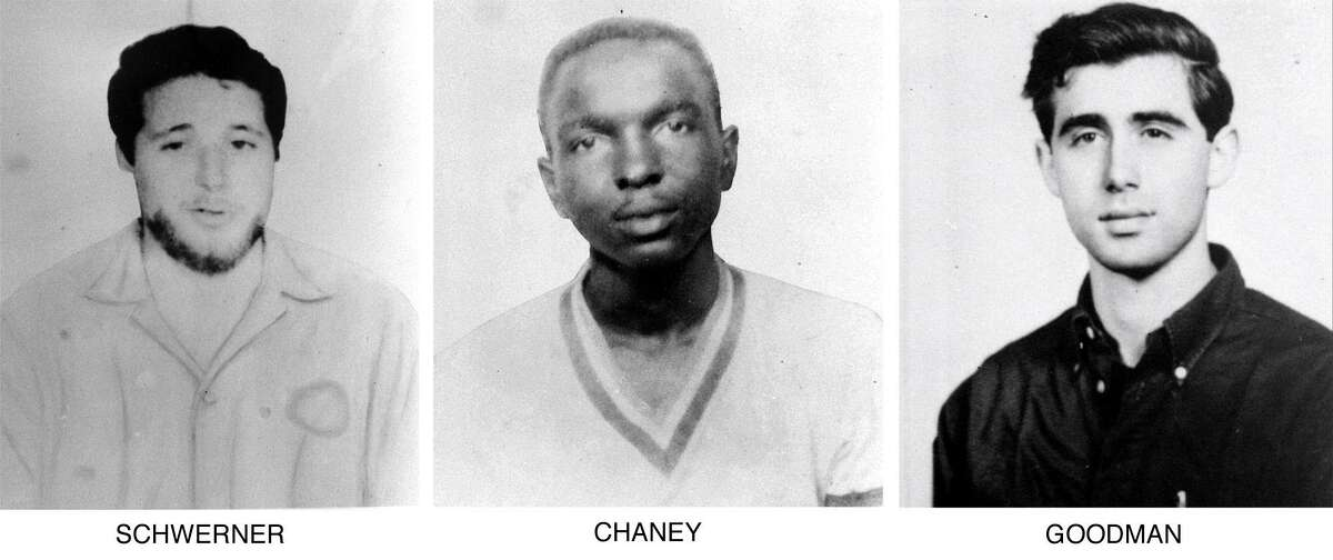 Michael Schwerner, from left, James Chaney and Andrew Goodman.