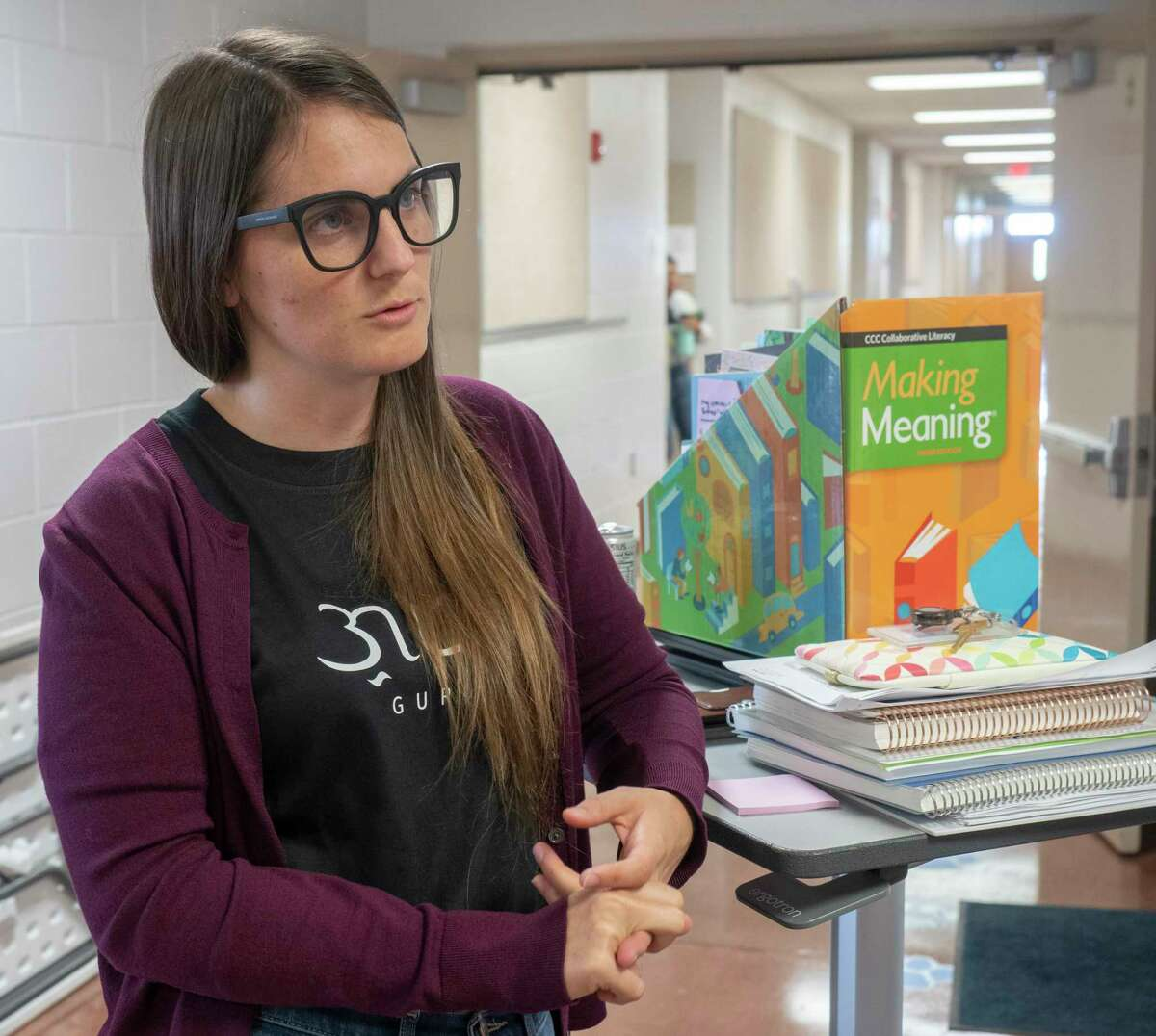 Hailey McCarthy, Executive Principal, talks 07/23/2021 about the improvements Idea Travis has made in academics in one year's time. Tim Fischer/Reporter-Telegram