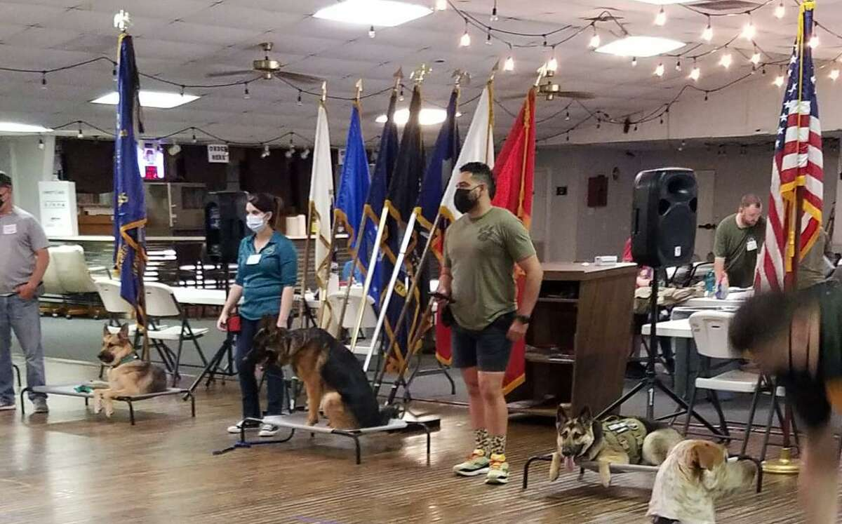 The Rescue for PTSD is a nonprofit that works with veterans to train dogs to help them deal with PTSD and make them more independent. Recently, they began hosting their monthly group lessons at the Tomball VFW, 14408 Alice Road.