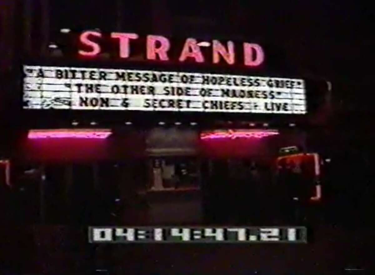 A sign outside the Strand in San Francisco, where the 8-8-88 Rally was held.