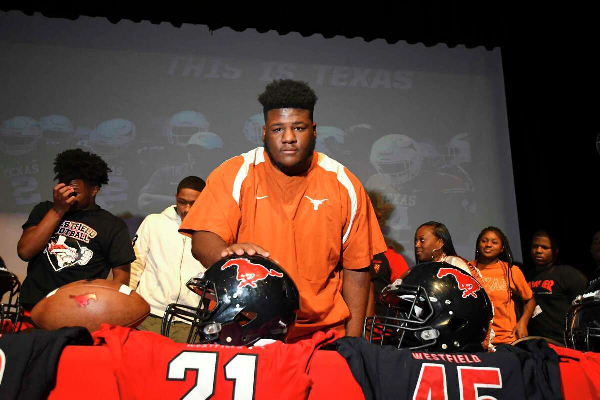 Texas defensive lineman and Westfield graduate Keondre Coburn was named to the 2021 preseason Chuck Bednarik Award watch list.