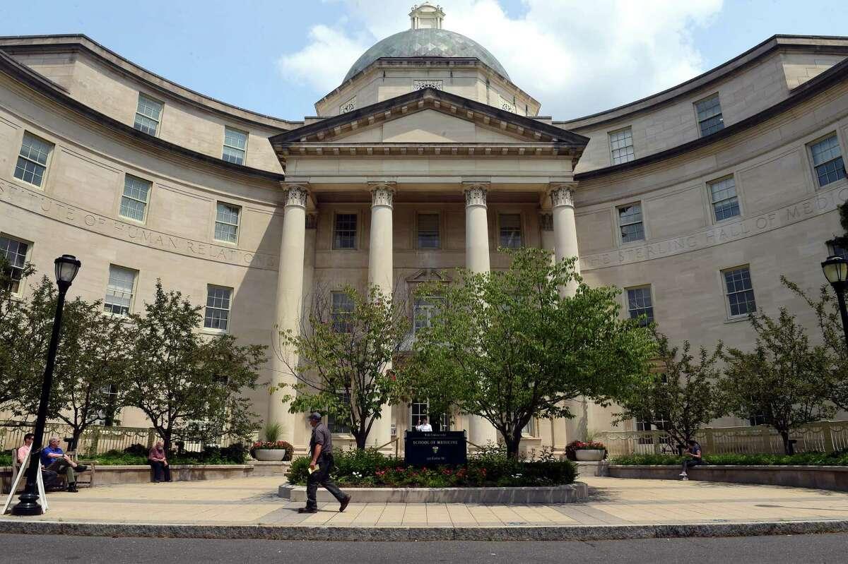 The Yale School of Medicine on Cedar Street in New Haven July 22, 2021.