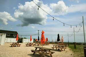 Neighbors have raised concerns over Little Pub's new outdoor area at the corner of Washington Parkway and Beach Drive in Stratford, Conn. on Thursday, July 22, 2021 .