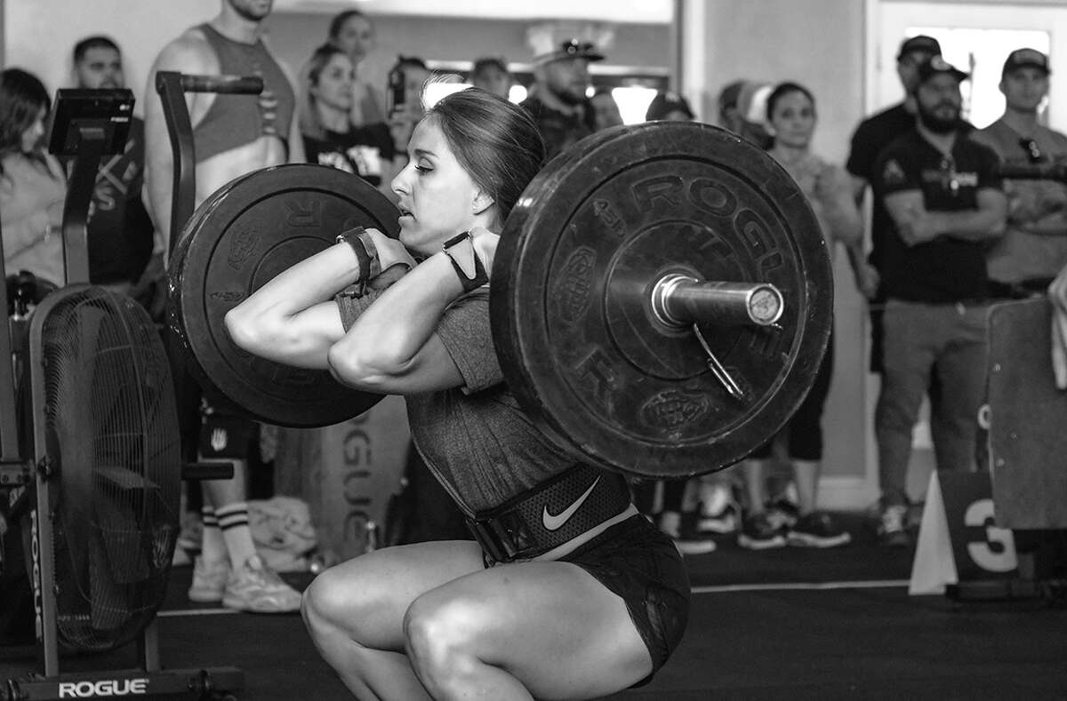 Arielle Loewen is seen here lifting weights and training. Loewen has qualified for the 2021 Crossfit Games taking place in Madison Wisconsin.