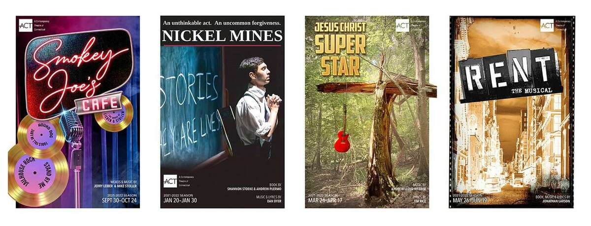 """ACT of CT unveiled its lineup for the upcoming 2021-22 season: """"Smokey Joe's Cafe,"""" """"Nickle Mines,"""" """"Jesus Christ Superstar"""" and """"Rent."""" The shows will be performed in front of full, live audiences for the first time in 16 months."""