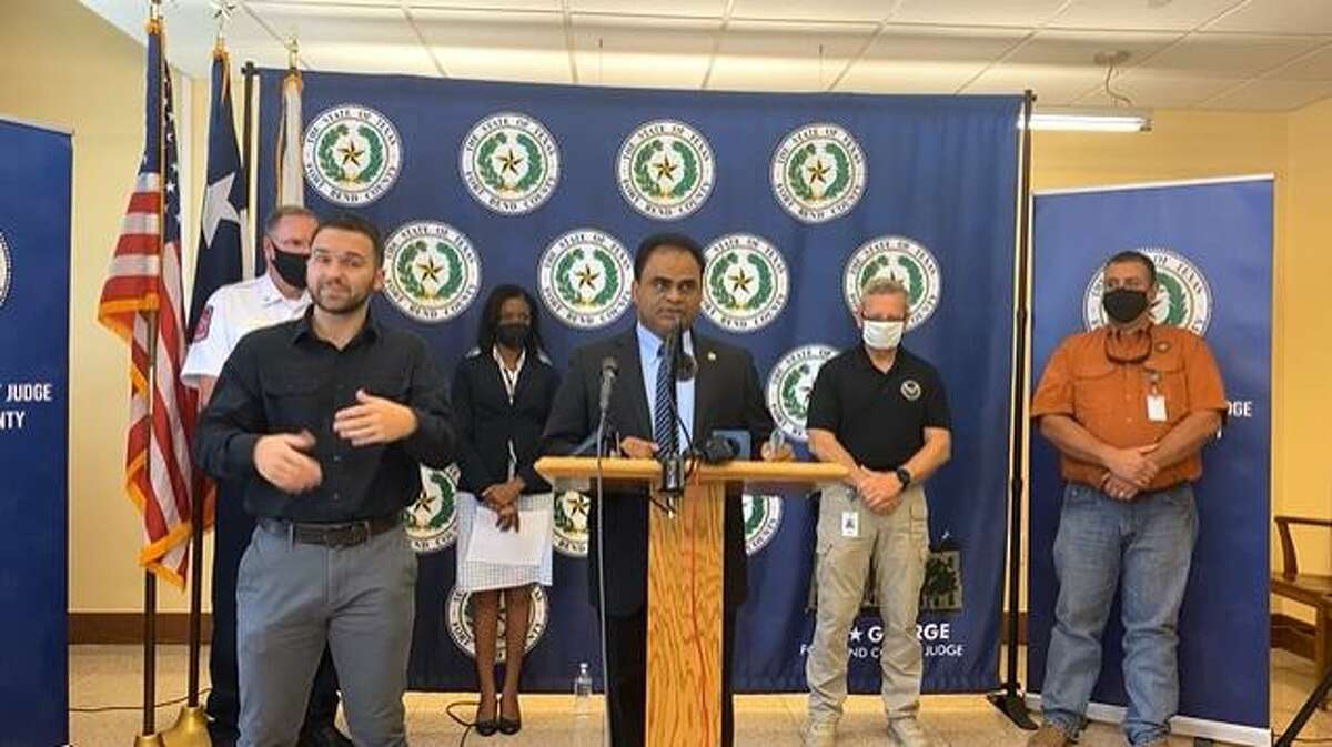 Fort Bend County Judge KP George speaks during a Friday, July 23, press conference focused on COVID-19, vaccinations and the delta variant.