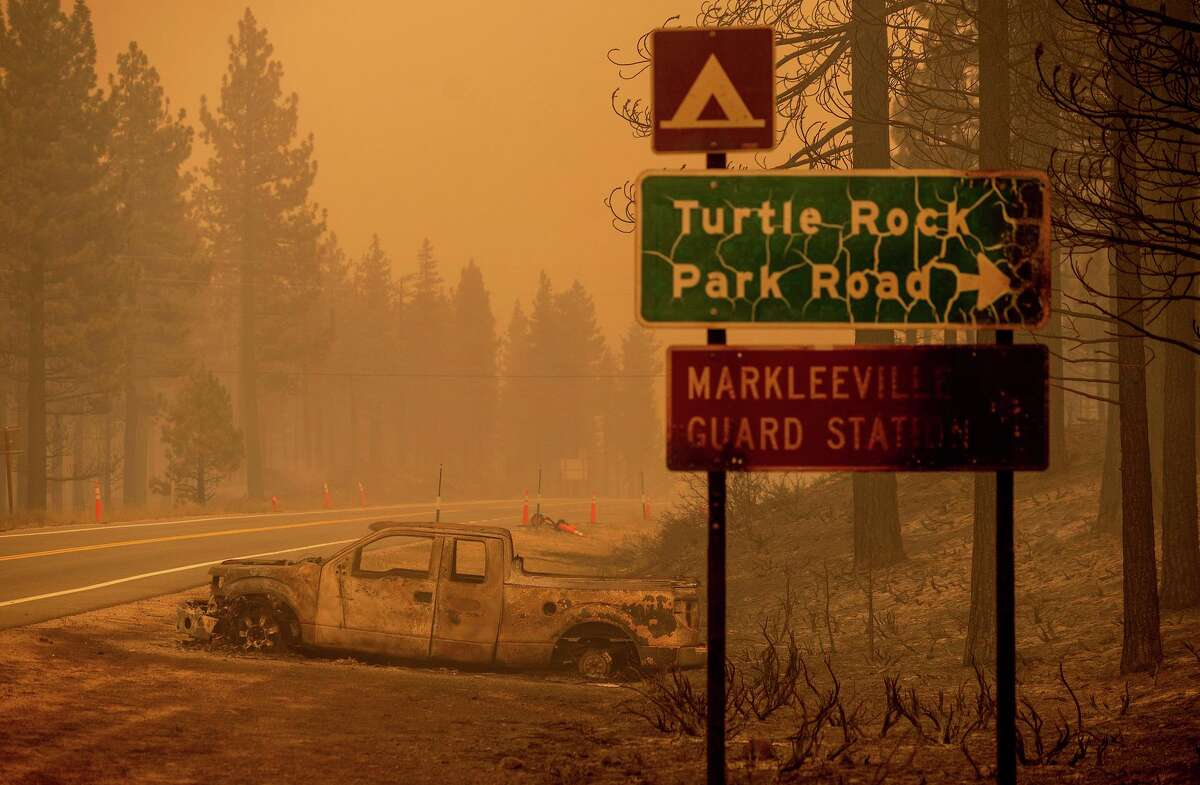 The Tamarack Fire started small but has burned more than 44,000 acres south of Lake Tahoe and crossed into Nevada.