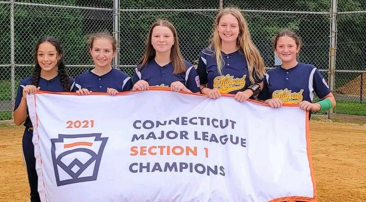 Emily Roos, Sarah Donegan, Erika Fabian, Olivia Gregory and Abby Corris have been Milford Little League All-Stars the past four seasons. Corris and Fabian played a part in three state-title winning teams.