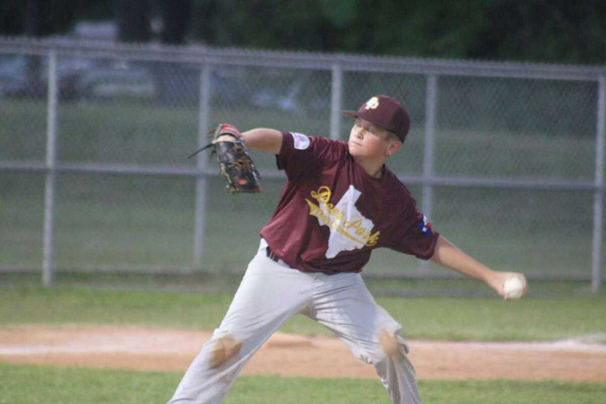 Deer Park Bronco all-star pitcher Jack Paradysz had complete control over the Deanville all-stars Friday night. Owners of the worst seed, Deanville surprised all by reaching the third round of the playoffs until Paradysz met them.