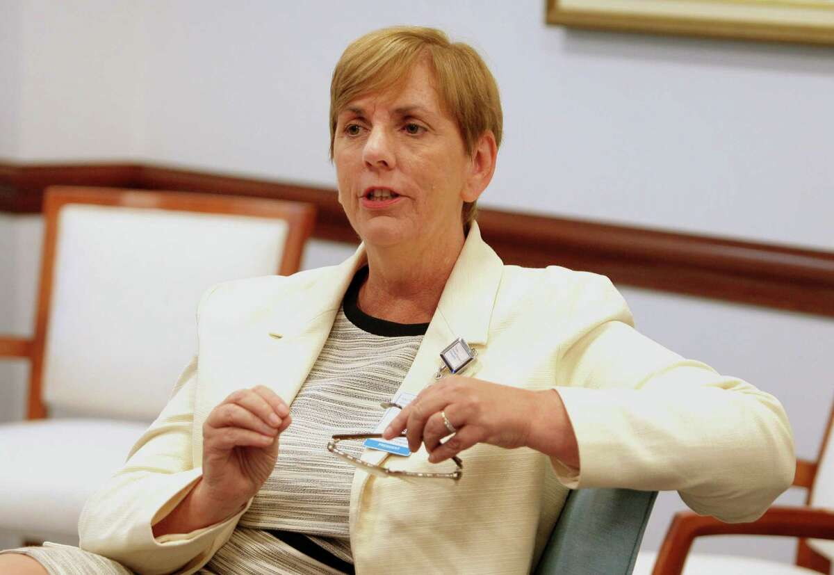 Greenwich Hospital President Diane Kelly at the hospital in Greenwich, Conn., on Wednesday July 21, 2021.