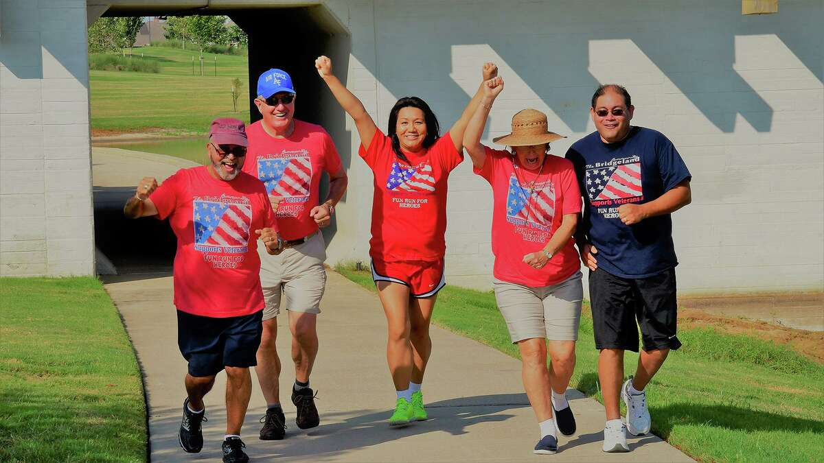Bridgeland residents enjoy running their race during the 2019 Run For Heroes sponsored by the Bridgeland Community Supports Veterans organization. The race helps raise money for veteran events throughout the year.