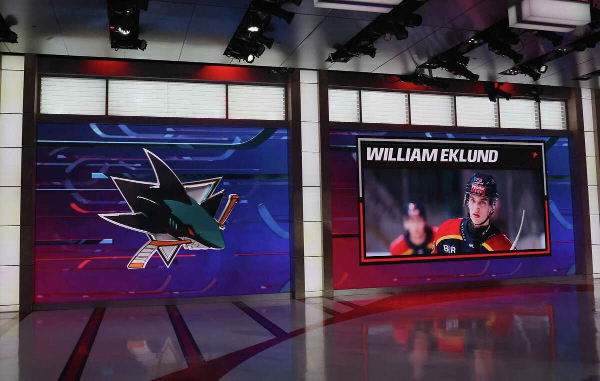 William Eklund, drafted with the No. 7 pick by the Sharks, had 11 goals and 12 assists in 40 games in Sweden's top league last season.