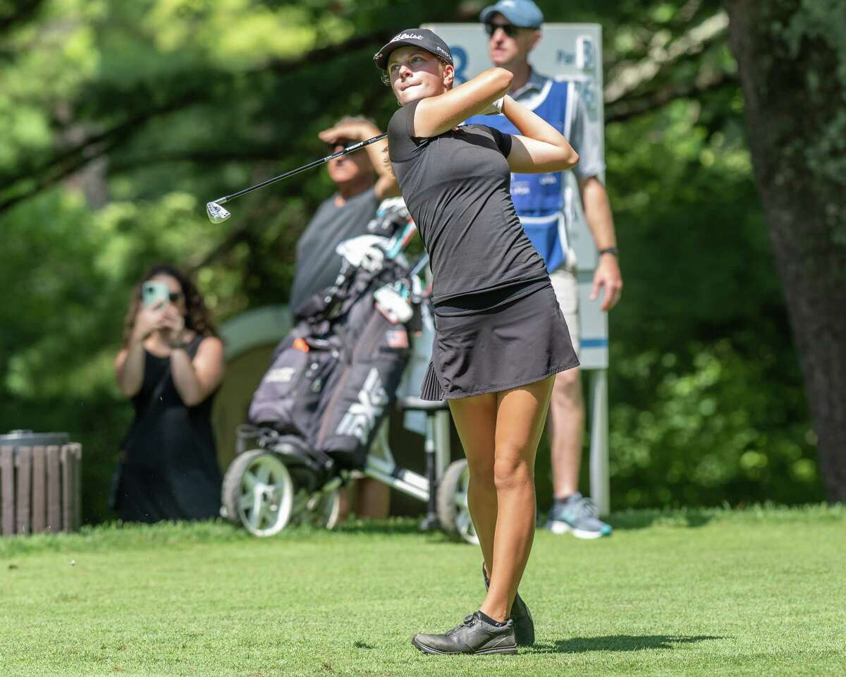 Kennedy Swedick,shown in last week's Symetra Tour event at Pinehaven, shot 75 Wednesday at the Girls Junior PGA Championship.