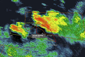 The weather radar shows multiple storms moving through the Upper Thumb July 24.
