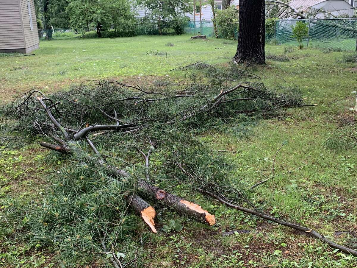 Images of storm damage in the Windover High School neighborhood from Saturday, July 24, 2021.