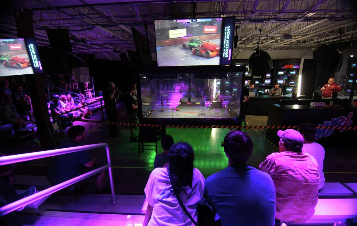 Norwalk Havoc Robot League holds a robot combat competition at its facility in Norwalk, Conn., on Saturday July 24, 2021. July 24th is the 4th event in the NHRL 2021 season and a total of 3 Golden Dumpsters and $4,200 dollars in cash prizes were available to the winners.