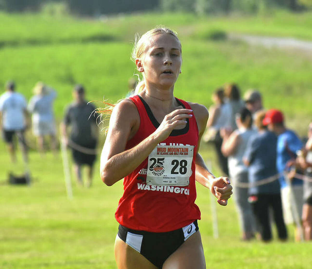 SIUE rising senior Kassidy Dexheimer was the top female finisher at Mud Mountain on Saturday at SIUE.
