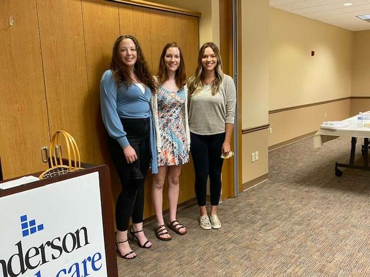 Students were presented their awards in person during the July Auxiliary General Meeting. Three awardees were able to attend the event including (L to R): Sahra Donnelly, Emily Duncan, Michaela Crabtree.