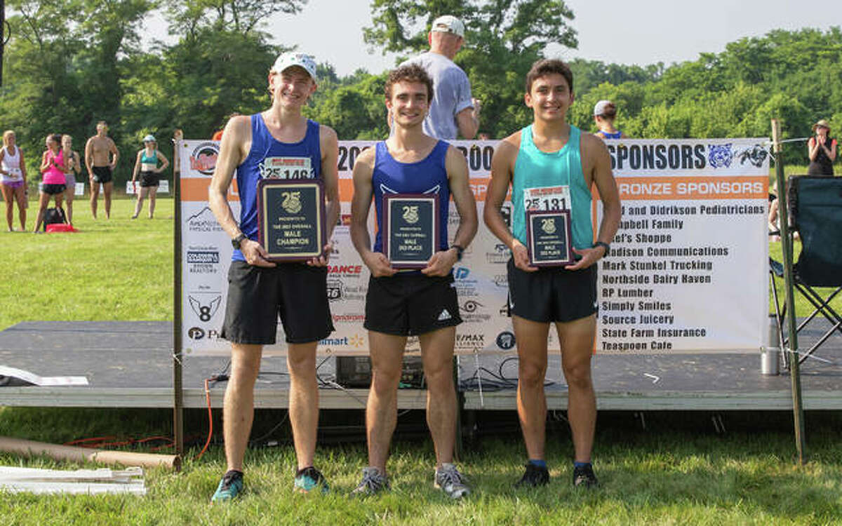 The top three finishers from Mud Mountain, pictured from left to right, were champion Jack Pifer, runner-up Zach Walters and Justin Mumford.