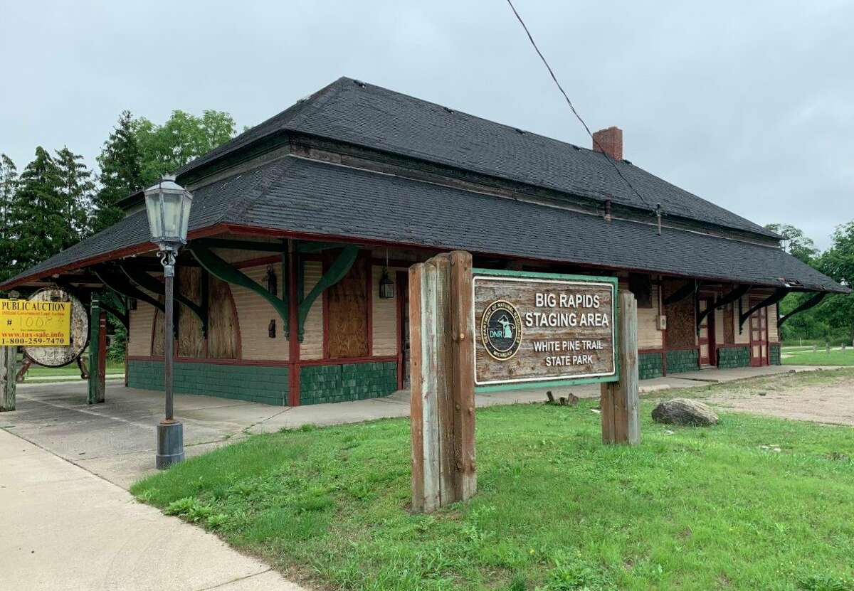 The city of Big Rapids has been working to find a way to purchase the old depot property for several months. This week the city commission authorized city staff to bid on the property duringthe DNR auction in August. (Pioneer photo/Cathie Crew)