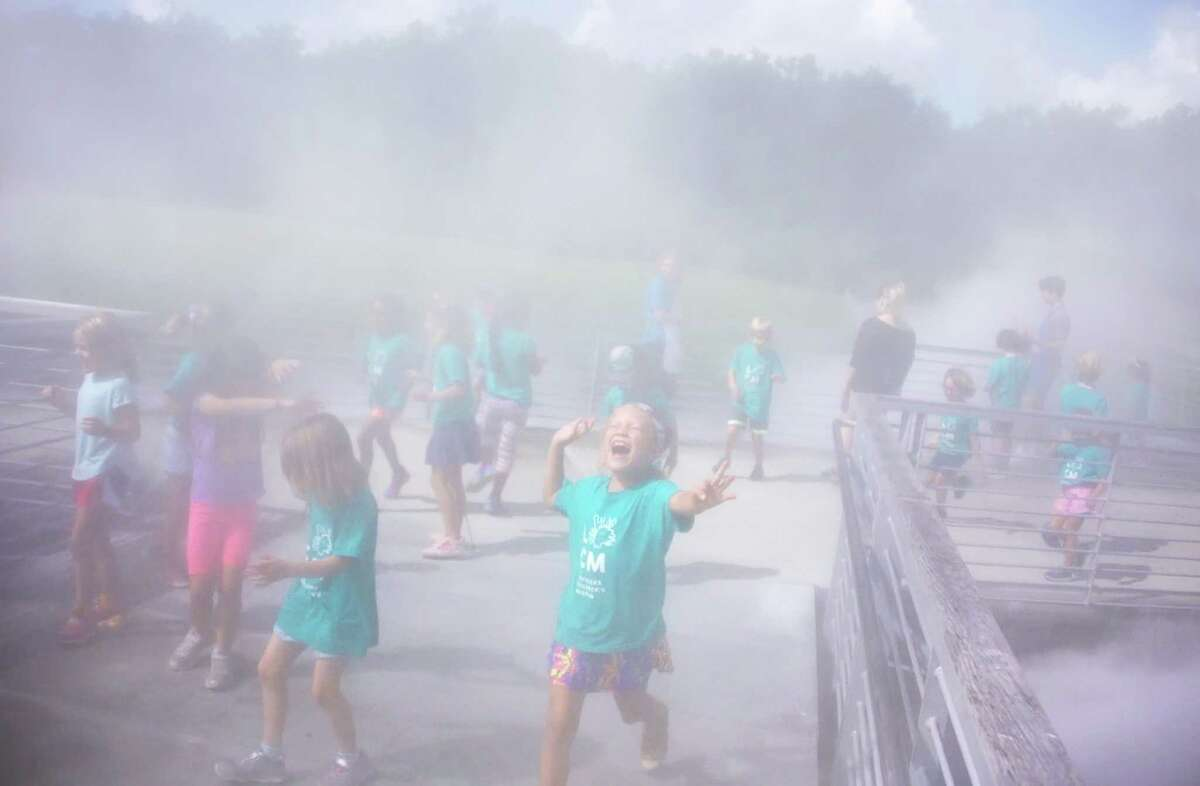 Fog is generated every 30 minutes at the Louisiana Children's Museum.