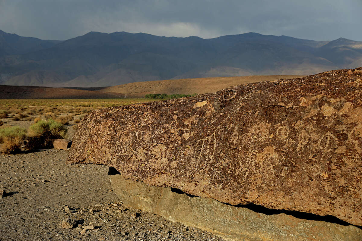 The Fish Slough Petroglyph site in the U.S. Bureau of Land Management's Volcanic Tablelands area on Monday, July 12, 2021, in Bishop, California.