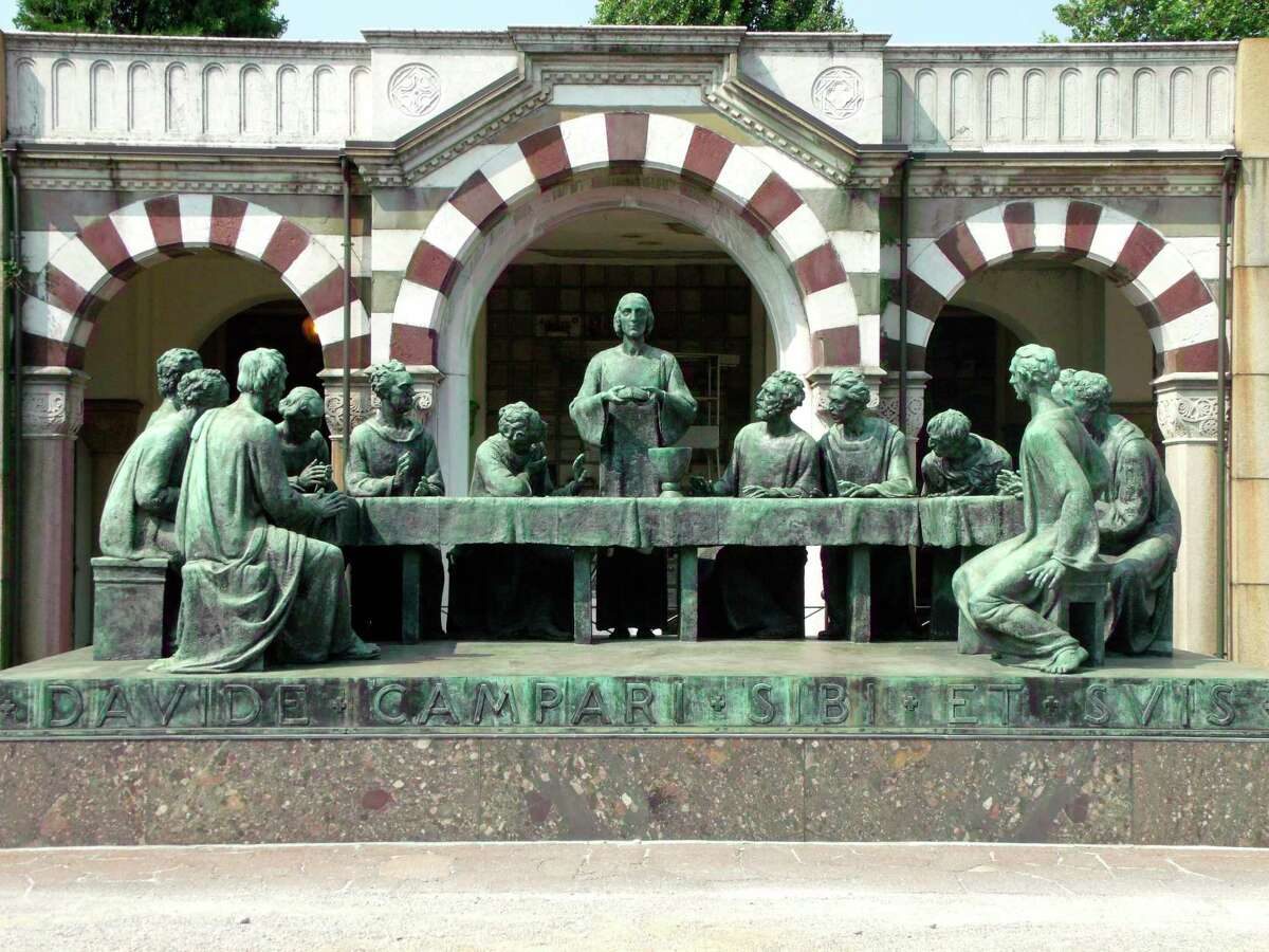 Pictured is adepiction of the Last Supper in Milan's Monumental Cemetery. (Courtesy photo)