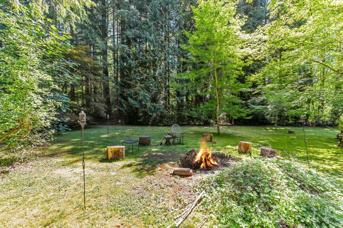 A fire pit awaits for your guitar and folk songs.